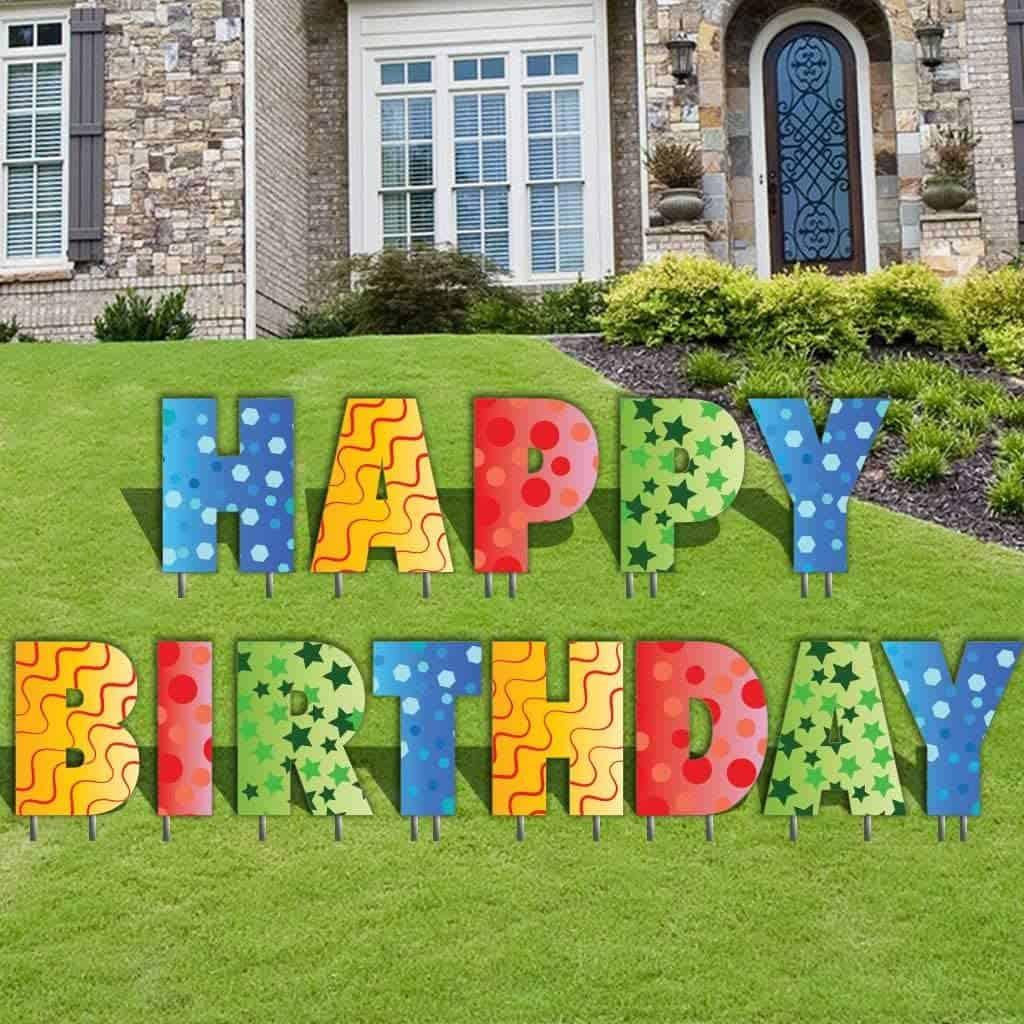Happy Birthday Yard Card rental